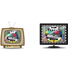 Television static vector image vector image