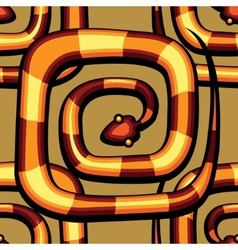 abstract serpent pattern vector image vector image