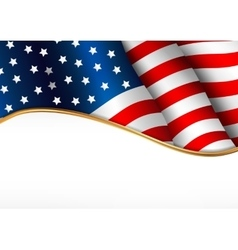 American flag Independence Day banner vector image vector image