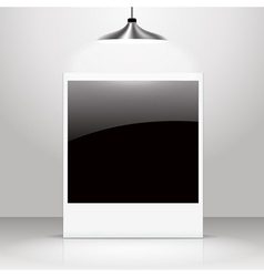Empty shiny photo frame vector image vector image