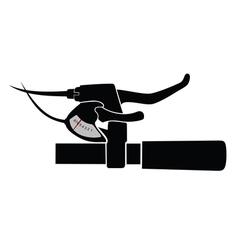 Mountain bike handlebar vector image