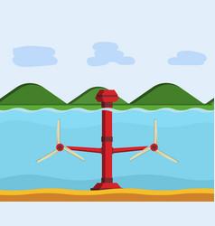 tidal power station vector image