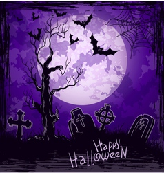 Violet grungy halloween background vector image vector image