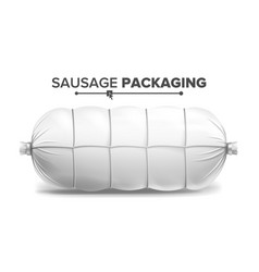 white sausage package white mock up for vector image vector image