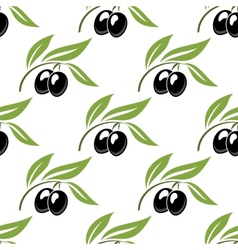 Black olives seamless pattern vector
