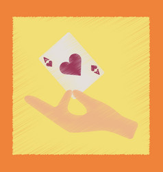 Flat shading style icon hand playing cards vector
