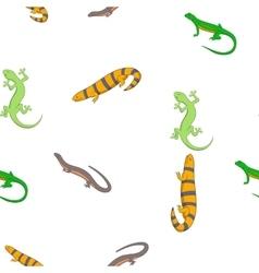 Iguana pattern cartoon style vector image vector image