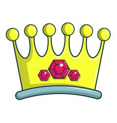 lady crown icon cartoon style vector image vector image