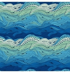 Pattern Sea Blue Big vector image