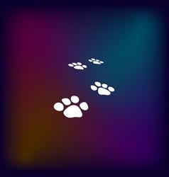 paw prints icon vector image