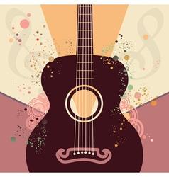 Retro Guitar Poster vector image