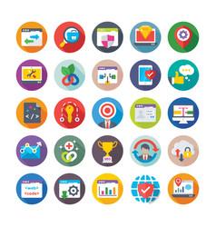 seo and digital marketing icons 13 vector image vector image