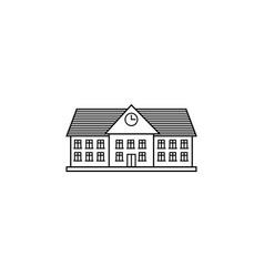 University line icon school and building vector