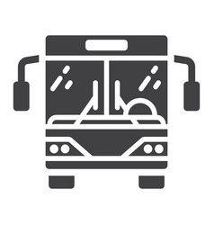 bus glyph icon transport and vehicle tour bus vector image