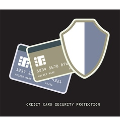 credit card protection vector image vector image