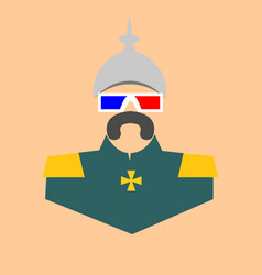german infantryman in stereo glasses vector image