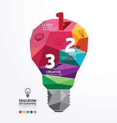 infographic light bulb Design Conceptual Polygon vector image vector image