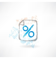 percentage grunge icon vector image vector image