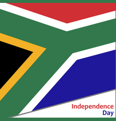 south africa independence day vector image