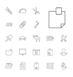22 clip icons vector