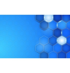 Abstract blue background hexagon vector
