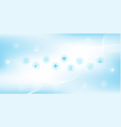 abstract medical and science healthcare blue vector image