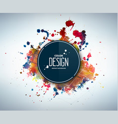 Abstract watercolor backdrop with splashes drops vector