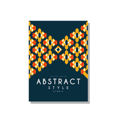 abstrat style ethnic design temlate colorful vector image