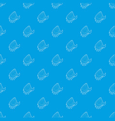 angelic wing pattern seamless blue vector image