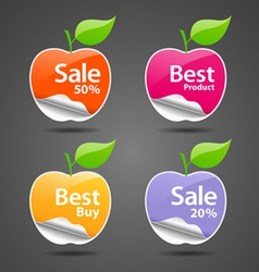 Apple sale price tag vector