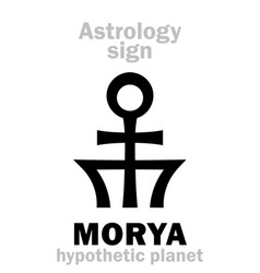 Astrology planet morya vector