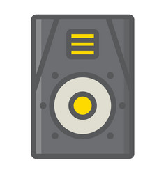 audio monitor filled outline icon music vector image
