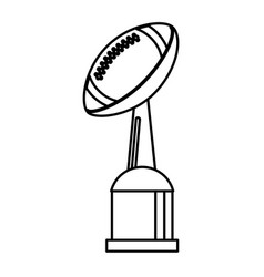 Award cup american football sport outline vector