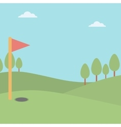 Background of golf field vector