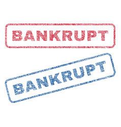 Bankrupt textile stamps vector