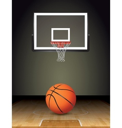 Basketball Court Ball and Hoop vector