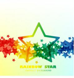 big rain bow star pattern background vector image