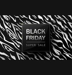 black friday sale poster zebra pattern design vector image