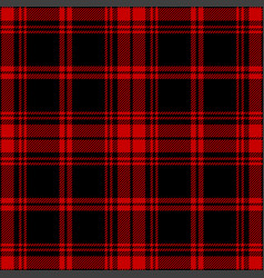 Black red plaid pattern graphic vector