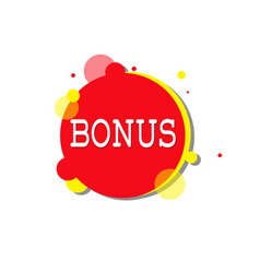 Bonus label special offer icon isolated sticker vector