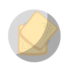 Bread plate cartoon vector