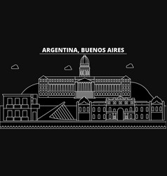 buenos aires silhouette skyline argentina vector image