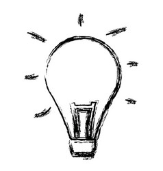 bulb creativity idea think innovation icon vector image