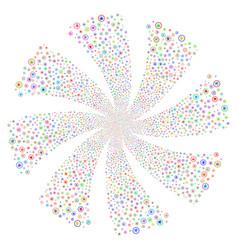 cannabis fireworks swirl flower vector image vector image