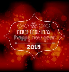 Christmas and new year light background vector