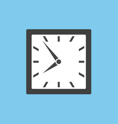 Clock icon in square design vector