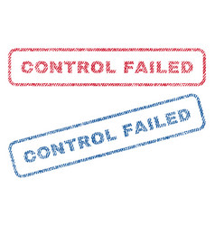 Control failed textile stamps vector