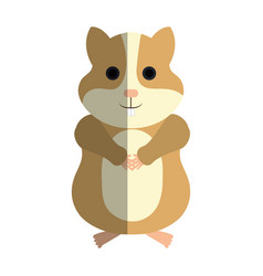 Cute hamster mascot icon vector