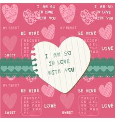 Cute love card vector