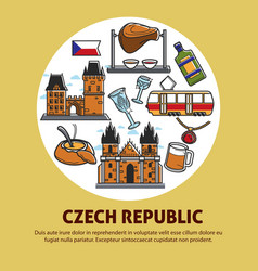 Czech republic authentic culture promotional vector